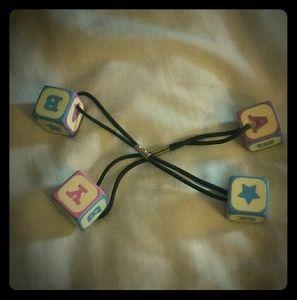 Baby Alphabet Block Hair Ties